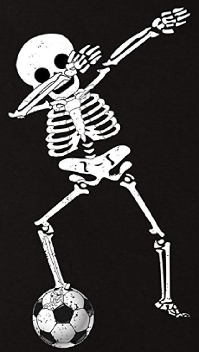 2d1b0ea3 Dabbing Skeleton Soccer Halloween Dab Skull Gifts T-Shirt | TeeChip