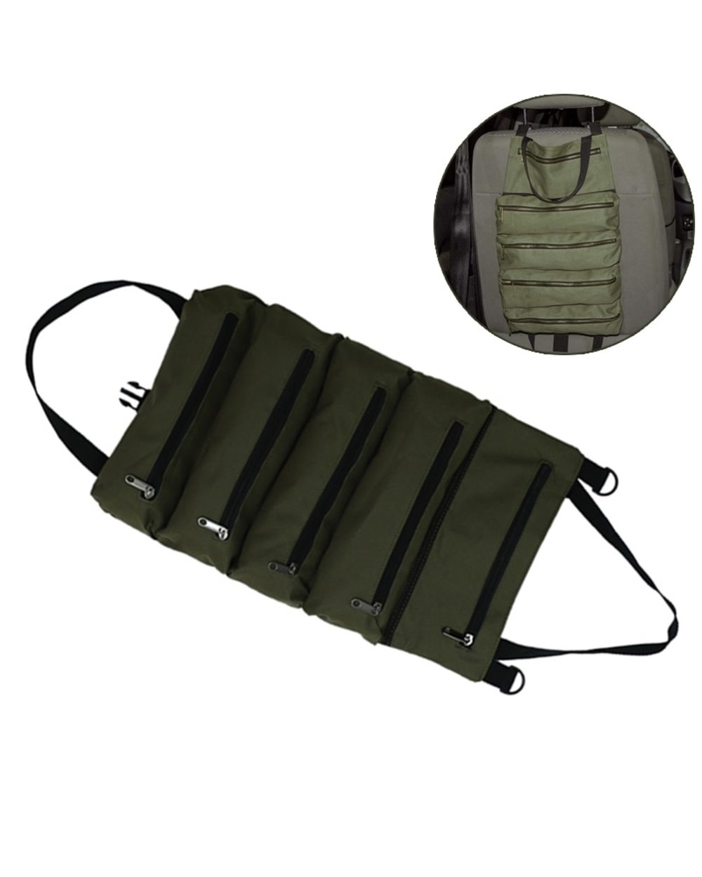 Multi-Purpose Zipper Carrier Roll Up Tote: Best Tool Pouch for Electricians  front-0